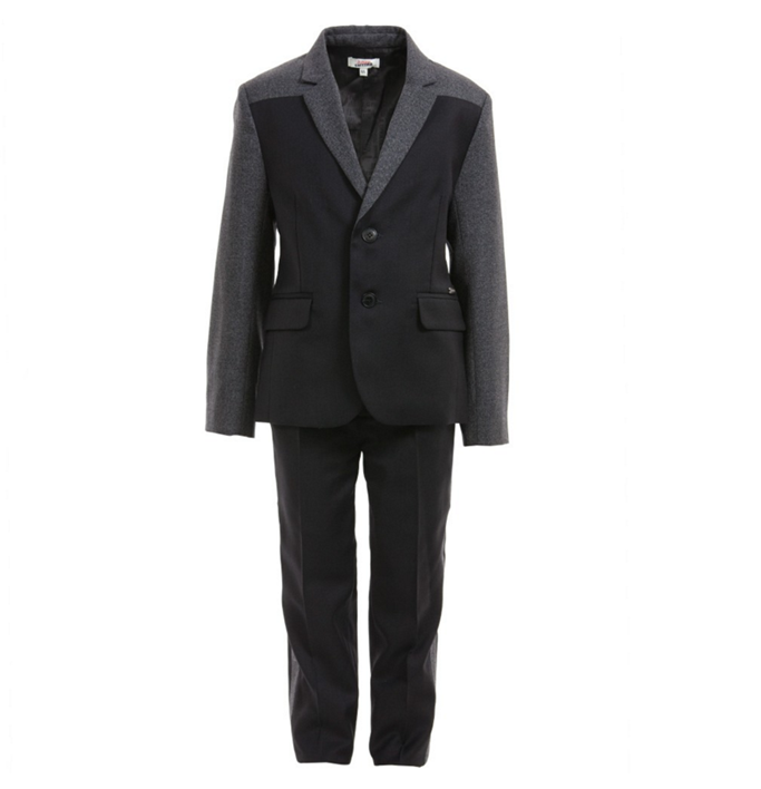 Boys grey and black suit by Junior Gaultier