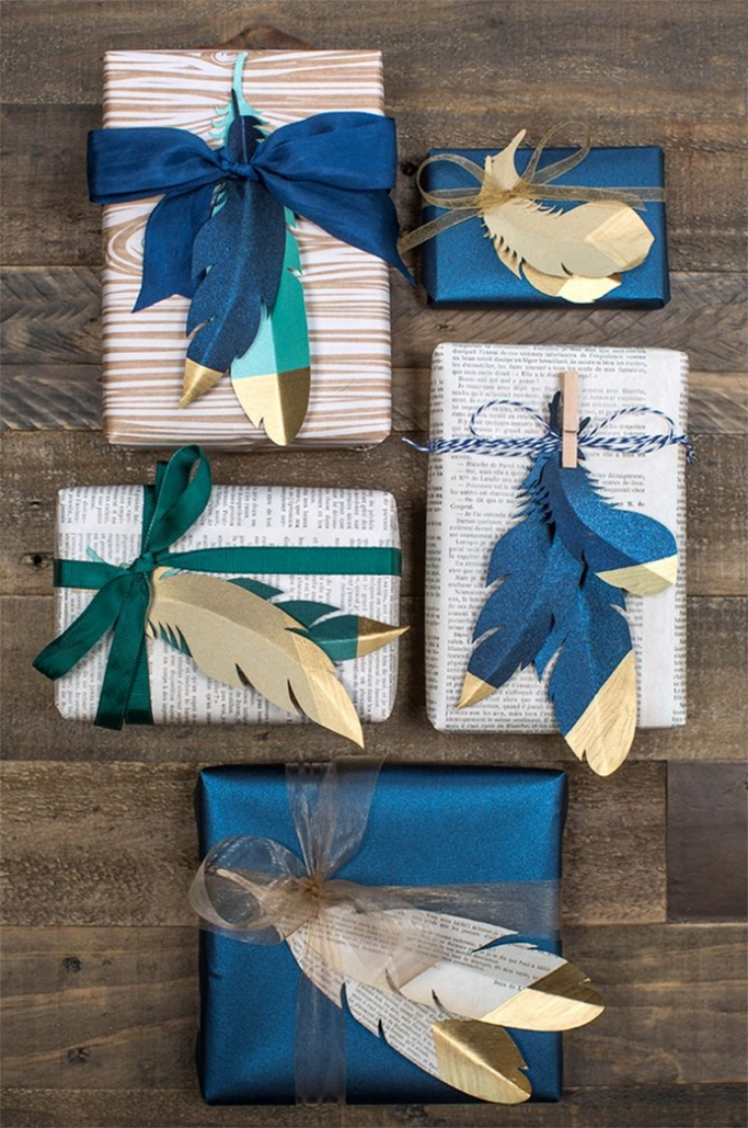 Feather Cut Out Presents