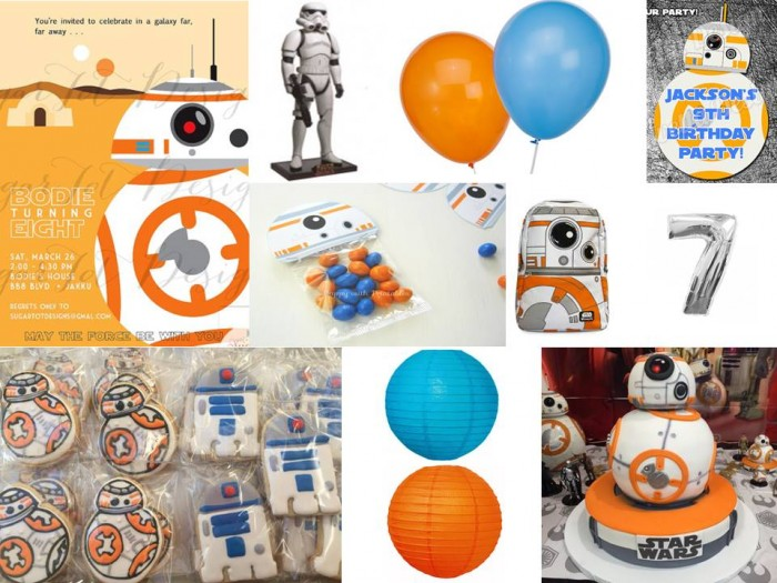 Star Wars BB8 and Storm Trooper Mood Board