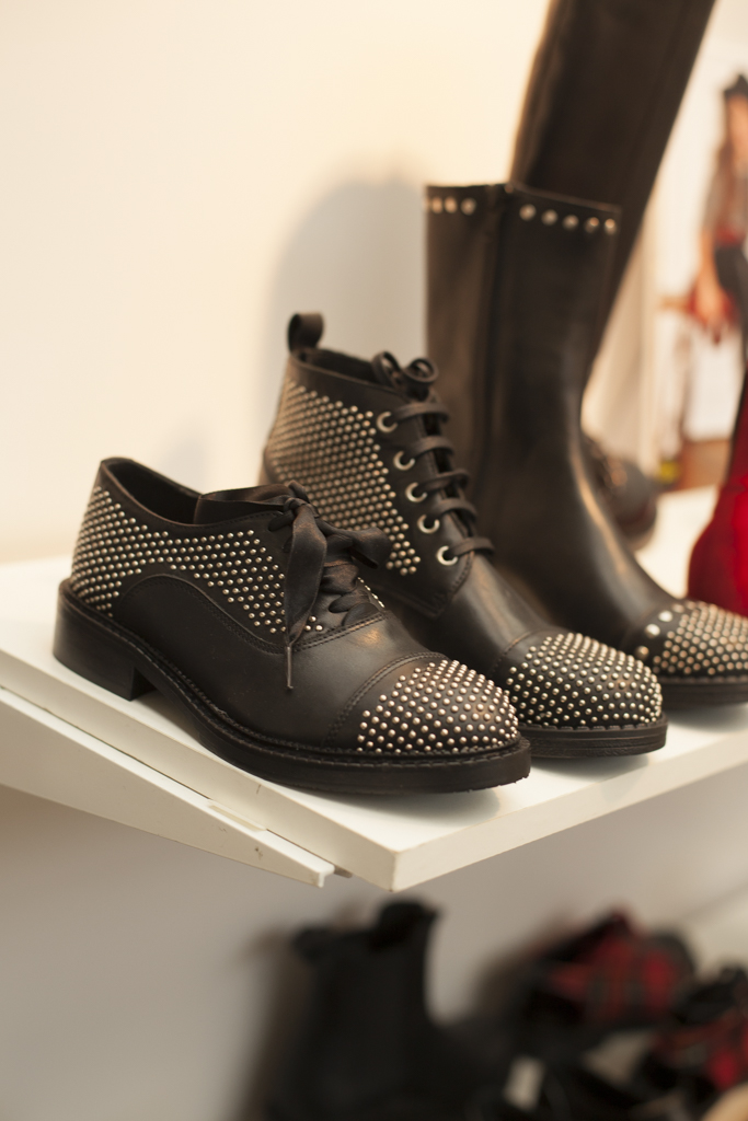 Black studded shoes