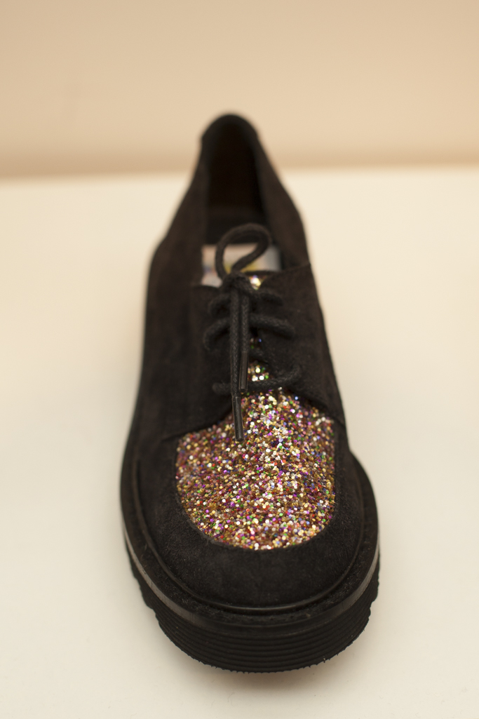 Black and sparkle shoes