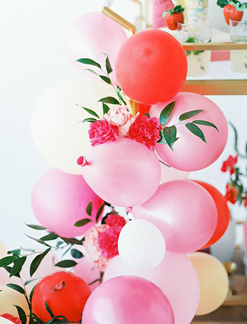 Floral Balloon Cluster