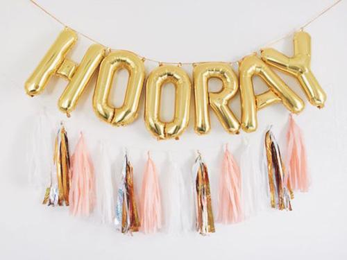 Hooray Balloon Banner