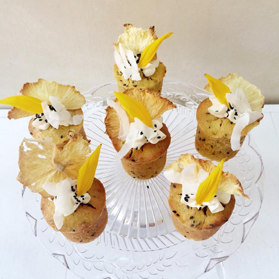 Pineapple-coconut-and-black-sesame-cakes