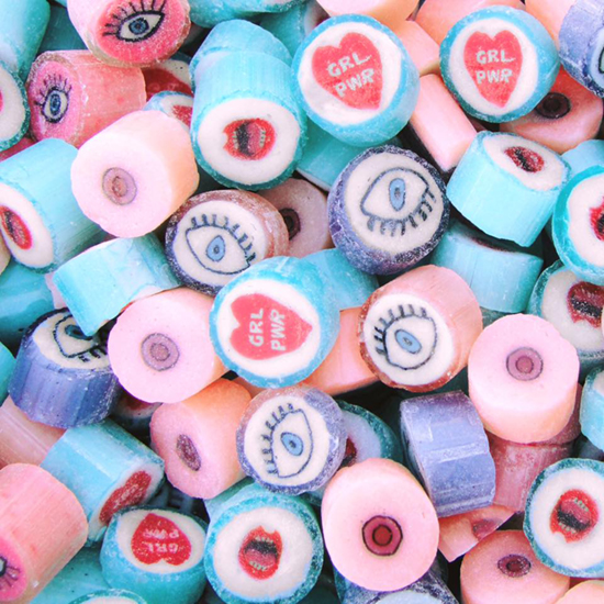 Spun Candy Eye Rock