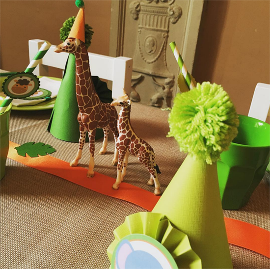 Safari Table Les Enfants