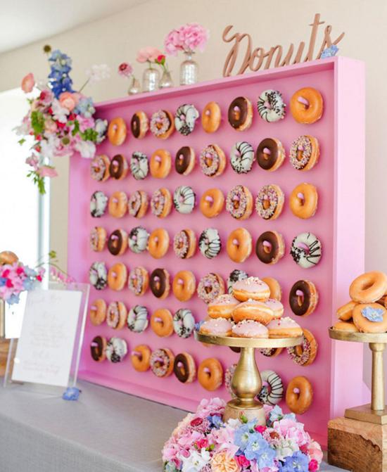 Pink Doughnut Wall