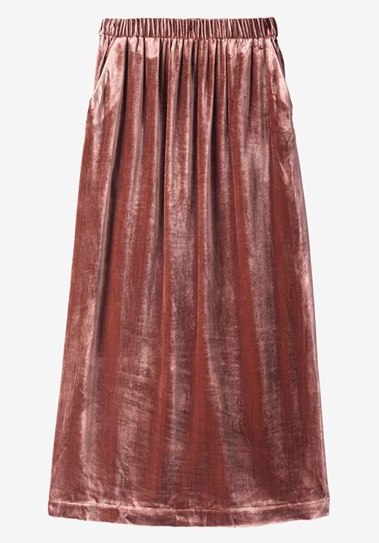 Silk Velvet Skirt