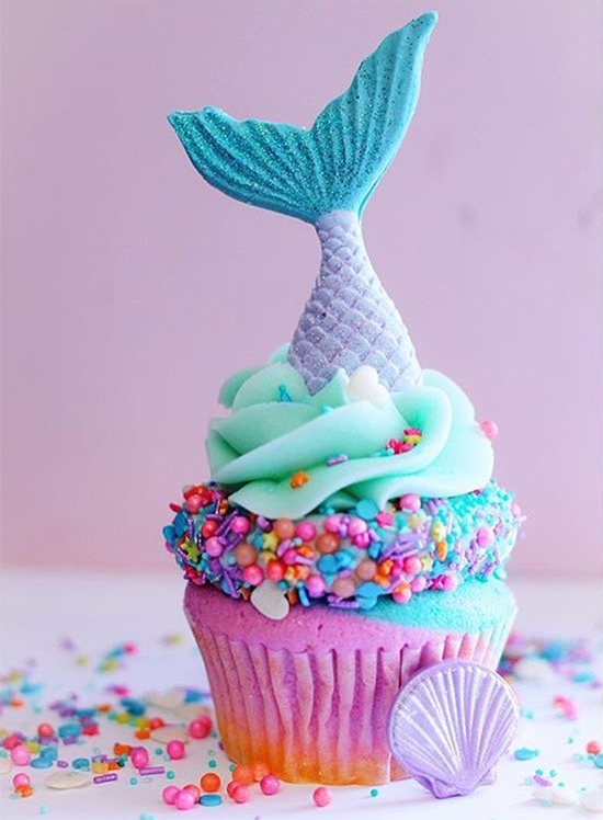 Mermaid Cupcake