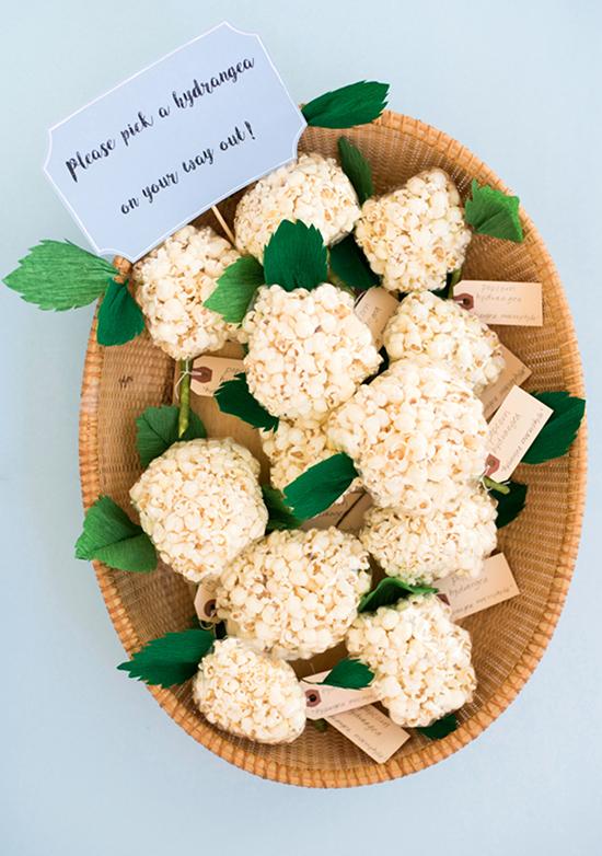 Popcorn Hydrangea Favours
